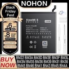 Аккумулятор NOHON BM47 BM4E BM3E BM3L BM22 BM46 BN43 BM39 для Xiaomi Mi 4C 5 5S 5X 6 8 Lite Pro 9 SE CC9 Redmi Note 2 3 7 Pro 4 4X 5