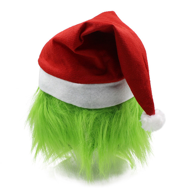 Funny Grinch Stole Christmas Latex Mask Gloves XMAS Costume Adult Party Mask Grinch Cosplay Carnival Face Masks 3