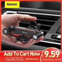 Baseus-Soporte de teléfono móvil para coche, montaje en salida de aire de coche, Universal, de Metal, 4,7-6,5 pulgadas