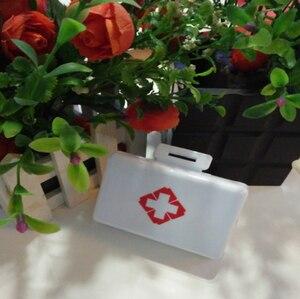 Image 5 - 1Pc פלסטיק 7 ימים מתקפל מיני גלולת העזרה הראשונה ערכות קופסא תרופות Tablet אחסון נסיעות מקרה מחזיק מיכל