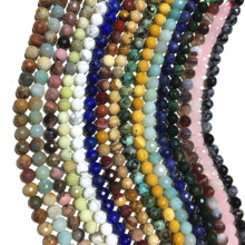 All For 5 Dollar Factory Price Natural Gemstone Faceted Round Loose Beads Jewelry Making DIY Bracelet Necklace Shipping Upgrade sapphire natural loose gemstone oval 7x9mm faceted beads for inlaid silver 925 jewelry making ring necklace diy icnway