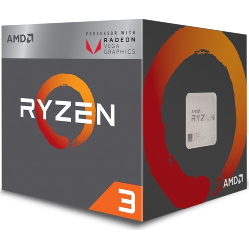AMD Ryzen 3 2200G 3.5Hz Socket AM4 + 65W Cpu 1