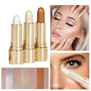 1pcs Wholesale 3D Highlight Embellish Contour Highlighter Pencil Brighten Skin Face Illuminator Makeup Bronzers Cosmetic TSLM1(China)