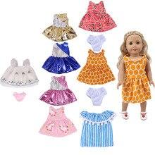 10 комплектов платья для кукол, костюмы для лета, для 18 дюймов и новорожденных, поколение детей, подарки на день рождения, игрушки для девочек