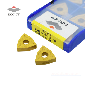 10pcs WNMG080408 -DM YBC251 ZCCCT WNMG 080408 DM ZCC CT cemented carbide turning inserts WNMG080408-DM pioneer dm 40bt