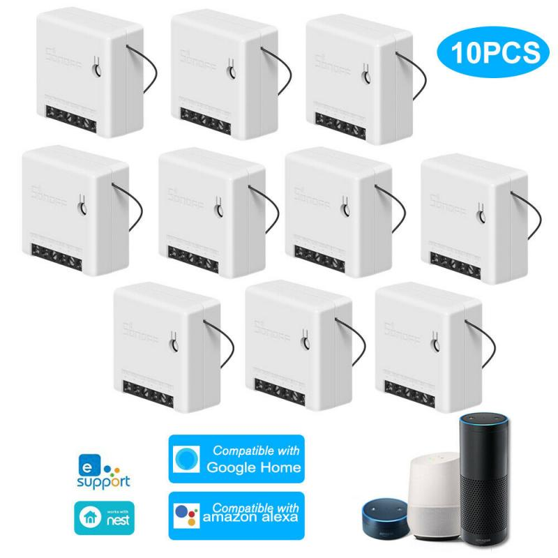 10 Pcs SONOFF MINI Wifi Smart Switch Module 110-240V Controller Timer Light Switch Voice Control With Amazon Alexa Google Home
