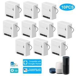 10 Pcs Sonoff Mini Wifi Smart Switch Module 110 240V Controller Timer Lichtschakelaar Voice Control Met Amazon alexa Google Thuis-in Thuis Automatiseringsmodulen van Consumentenelektronica op