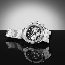 Cadisen Nieuwe Saffier Heren Horloge Quartz Vk67 Rvs Horloge 100M Waterdicht Top Merk Casual Business Horloge