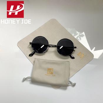 Retro Vintage małe okrągłe spolaryzowane okulary mężczyźni marka projektant okulary kobiety metalowa rama czarne szkła okulary jazdy UV400 tanie i dobre opinie Honey Joe CN (pochodzenie) Akrylowe ROUND Dla osób dorosłych STOP polaryzacyjne 47mm HJ066 Retro Round Sunglasses 100 UVA UVB UV400 Protection