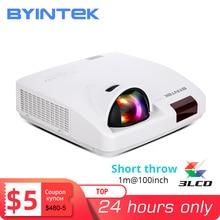 Byintek C600LST Ultra Short Throw 3LCD Full Hd 1080P Video Gegevens Tonen 3D Projector Voor Onderwijs (Optioneel Android 10 Tv Box)