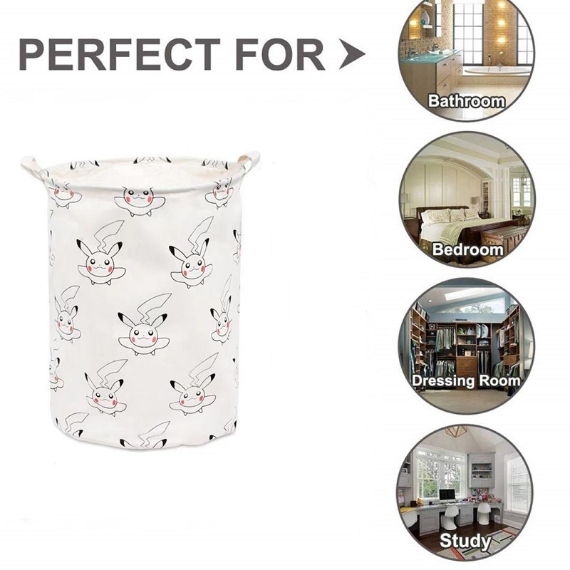 Totoro Foldable Canvas Laundry Basket for Book, Toy, Clothes Collapsible Cubes Storage Bin, Large Hamper Laundry Basket 10