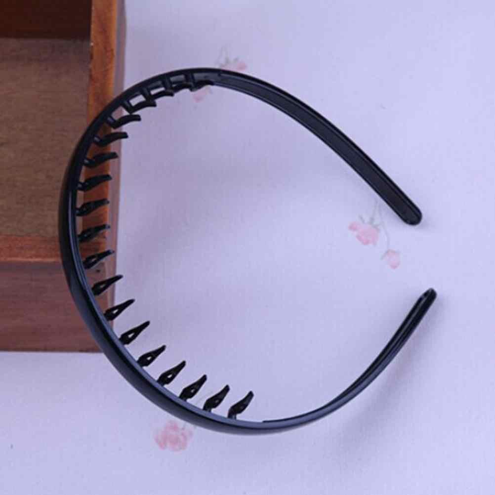 1 pc Fashion Unisex Heren Vrouwen Zwart Golvend Haar Hoofd Hoop Band Sport Hoofdband Haarband haaraccessoires