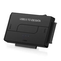 SATA Combo USB IDE SATA adaptador de disco duro SATA a USB 3 0 convertidor de transferencia de datos para 2,5/3,5/5,25 Optical Drive HDD SSD