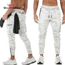 Worthing Running męskie spodnie sportowe letnie pot szybkie suche Crossfit Wear Jogging siłownia Workout Sportwear Legging długie spodnie