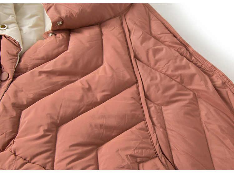 Neue Frauen Doppel-seitige Tragen Ultra Licht Kurze Unten Jacke 2019 Winter Warme Oberbekleidung Mode Weibliche Einreiher Weiß unten Mantel Parka Mujer