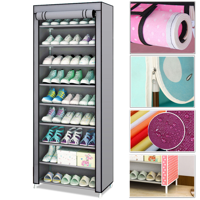 Hot Simple Shoe Rack Non-Woven Dustproof Storage Shoe Cabinet Shoemaker Storage Bag Space Saving Shoe Storage 1