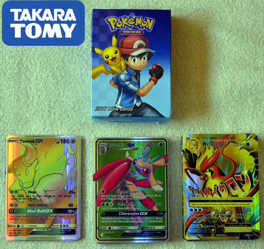 60pcs TAKARA TOMY Pet Pokemon Cards The Newest Style In 2019 Pokemon GX EX Card The Toy Of Children Kids Toys