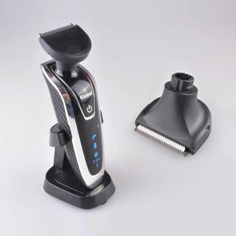 Afeitadora eléctrica multifuncional 4 en 1 para hombres, máquina de afeitar, máquina de corte de pelo lavable, maquinilla de afeitar recargable 35D