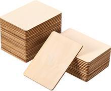 30 pçs quadrados de madeira em branco peças unacabado canto redondo quadrado recortes de madeira para diy artes artesanato projeto gravura a laser escultura
