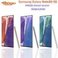"Samsung Galaxy Note20 5G N981B Original Unlocked Global Version 6.7"" 8GB&128GB Octa Core NFC 64MP&Dual 12MP Original Cell Phone 1"