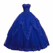 Sweetheart Lace Tulle Quinceanera Dresses 2019 vestidos de 15 anos Ball Gown Crystal Appliques Back Prom Real Photo