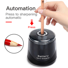 Rechargeble+Battery Style Electrical Auto Pencil Sharpener Safety Helical Steel Blade Sharpener Stationery