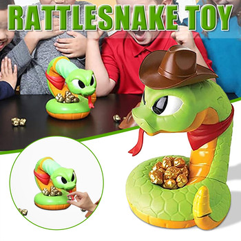 Electric Tricky and Scary Rattlesnake Toys Tricky Horror Decompression Snake kid's funny toys stress reliever toys gifts tricky
