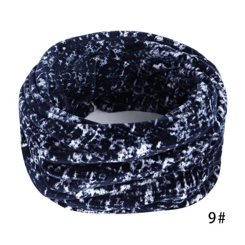 Новинка, осенне-зимний женский шарф с принтом для женщин, модный бархатный тканевый шарф, мягкий удобный женский винтажный шарф - Цвет: 9