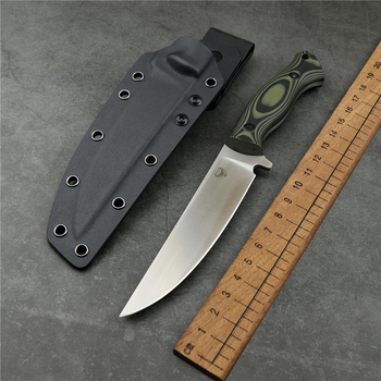 Outdoor camping survival straight knife 9cr18mov blade G10 handle high hardness sharp hunting knife EDC tool survival knife недорого