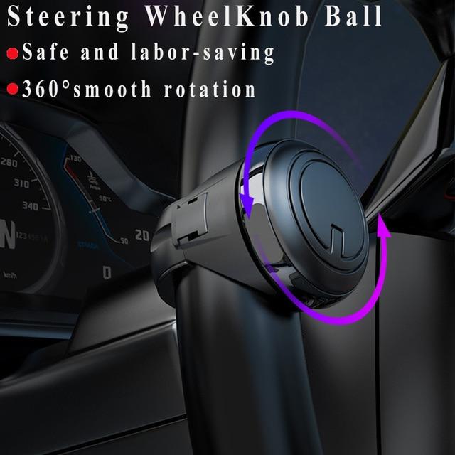 Universal Car Steering Wheel Booster ABS In Rolling Handle Control Spinner Steering Wheel Knob Strengthener Spinner Knob Ball 2