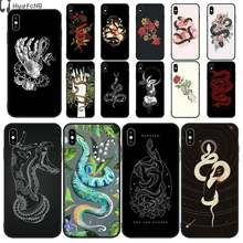 Hand Snake Flower Snake High Quality Silicone Phone Case for iPhone 11 pro XS MAX 8 7 6 6S Plus X 5 5S SE XR case(China)
