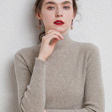 Slim Sweater Knitted Jumper Long-Sleeve Shirt Turtleneck Pullover Winter Tops Girls Casual