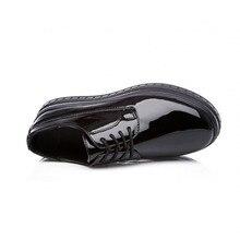 Lace Up Round Toe Platform Shoes PU27