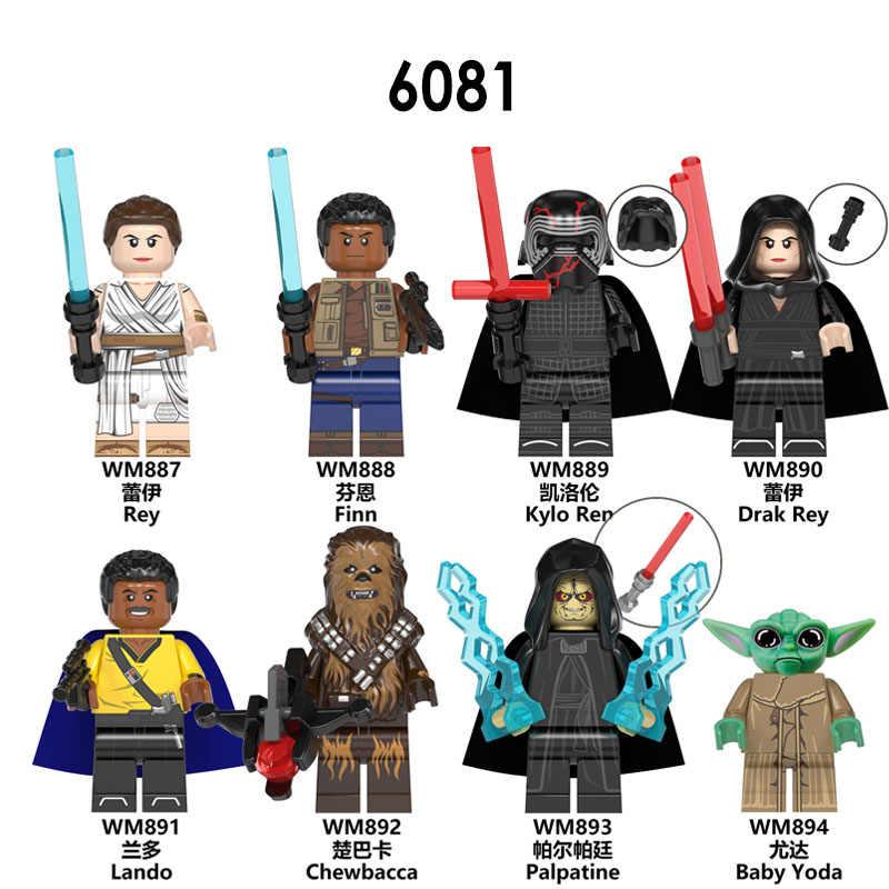 เด็ก Yoda Mandalorian นาฟส์ Star Rise of Skywalker Wars 9 Kylo Rened StarWars อาคารบล็อกของเล่น