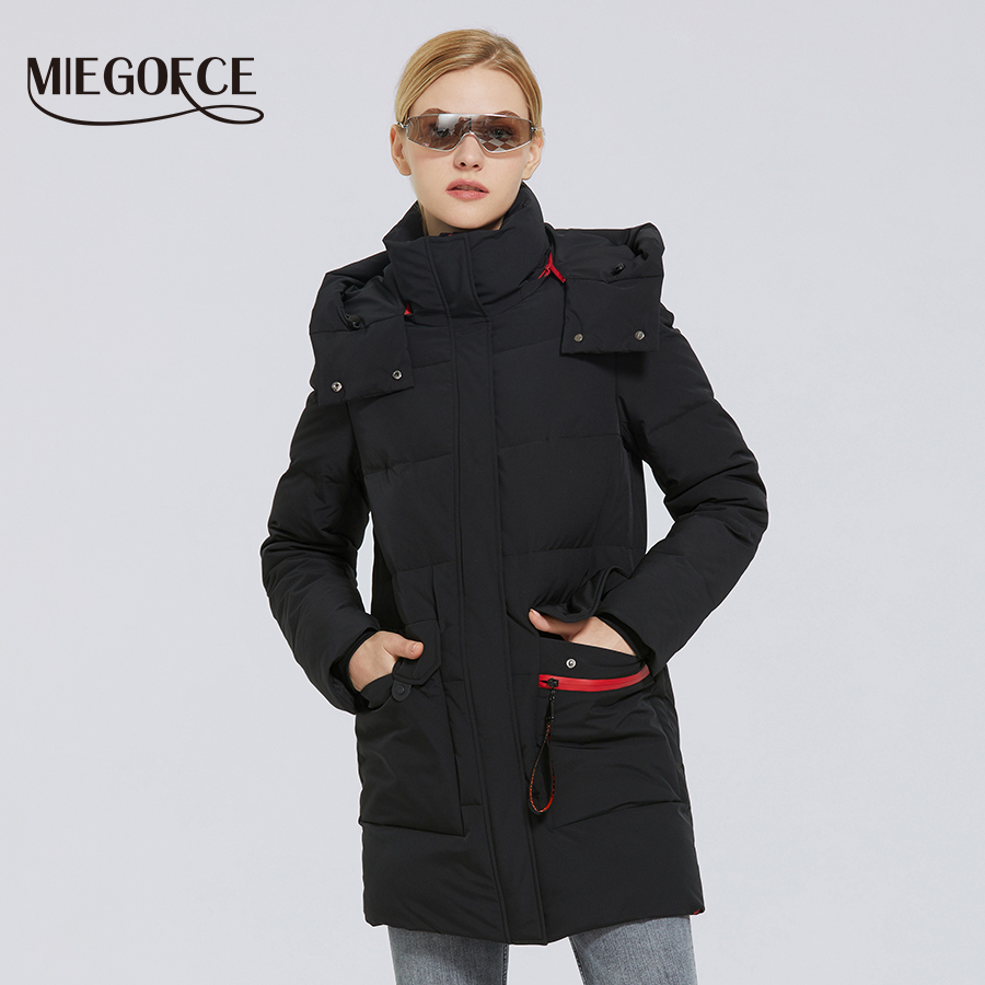 MIEGOFCE 2020 Winter New Women's Cotton Coat Warm Windproof Jacket Simple Design Winter Parka Women Clothes Wintertime Coat|Parkas| - AliExpress