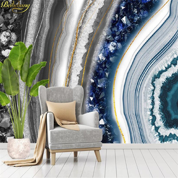 beibehang Custom Modern crystal marble wallpapers for living room agate slice TV background wallpaper 3D photo mural wall paper beibehang mural wall paper modern three dimensional living room bedroom tv backdrop swiss alps scenery 3d photo wallpaper roll