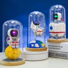 Astronaut Mini DIY Building Blocks toy New Arrival 3D Model Educational Game Micro Bricks Puzzle Kids Toy Diamond Size