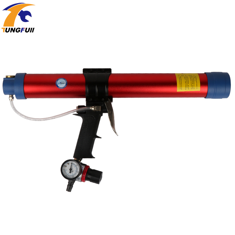 600ml Soft Rubber Adjustable Speed Pneumatic Glass Glue Gun Structural Rubber Silicone Gun
