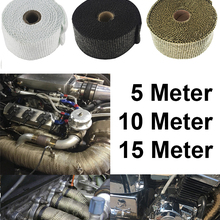 Free Shipping Motorcycle Exhaust Thermal Exhaust Tape Header Heat Wrap Resistant Downpipe