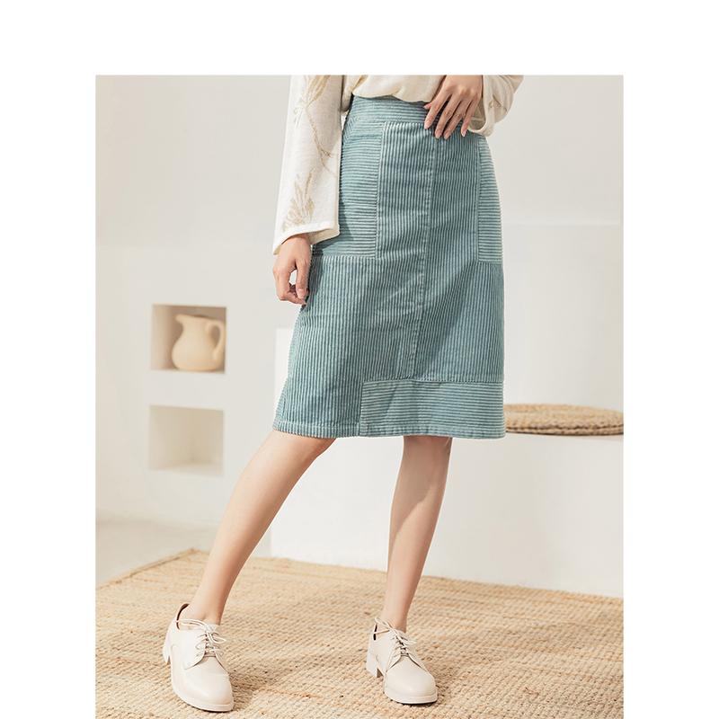 INMAN Winter New Arrival Mid Waist Retro Style Elegant Women Lady Fashion Skirt