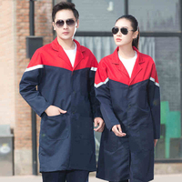 New Work Clothing Men Women Reflective long trench Spring Autumn supermarket Workshop COveralls Farming Working Uniforms outfit