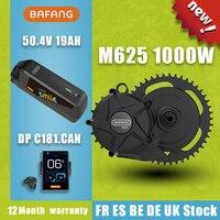 BAFANG-Kit de conversión de bicicleta eléctrica, Motor M625 de 50,4 V y 1000W, con batería de litio de 19AH y 21700 celdas samsung