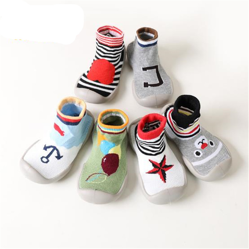 Baby Girl Boy Attipas Same Design Sneaker Soft Comfortable Bebe Cartoon First Walkers Brand Anti-slip Toddler Rubber Socks Shoes