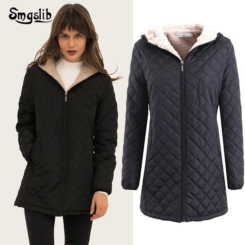 2019 Winter Jacket Women Thick Warm Hooded Parka Mujer Cotton Padded Coat Long Solid Zipper Plus Size 3xl Slim Jacket Female