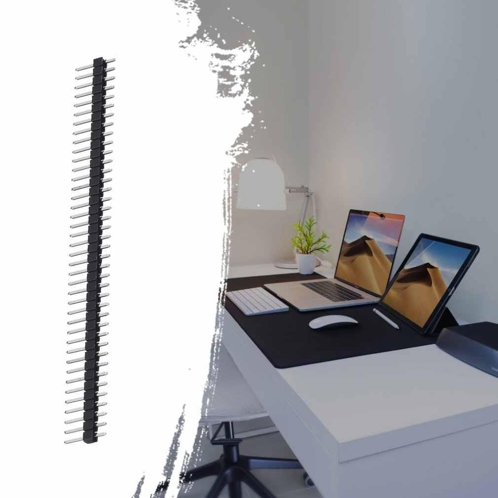 3 uds. Nuevo módulo de aguja de una sola fila 40Pin 2,54mm de una sola fila recto macho Pin cabezal de la tira PBC para Ardunio