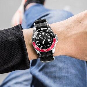 Image 5 - Homme analogique montre à Quartz Canlander hommes montre bracelet en Nylon luxe décontracté affaires horloge vert