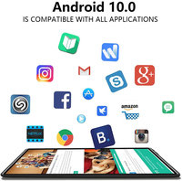 Global 4G LTE 10 inch Tablet PC Android 10.0 Octa Core 6GB RAM 32GB ROM Dual Camera Wifi Bluetoth 1280X800 IPS Tablets планшет 2