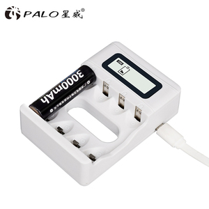 Image 4 - PALO USB แบตเตอรี่ Charger สำหรับ AA AAA 3A 1.2V Ni MH Ni Cd หน้าจอ LCD Smart Charger FAST CHARGING