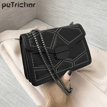 Rivet Chain Small Crossbody Bags For Women Fashion Shoulder Messenger Bag Lady Luxury Handbags Female PU Leather Flap Bolsa Sac