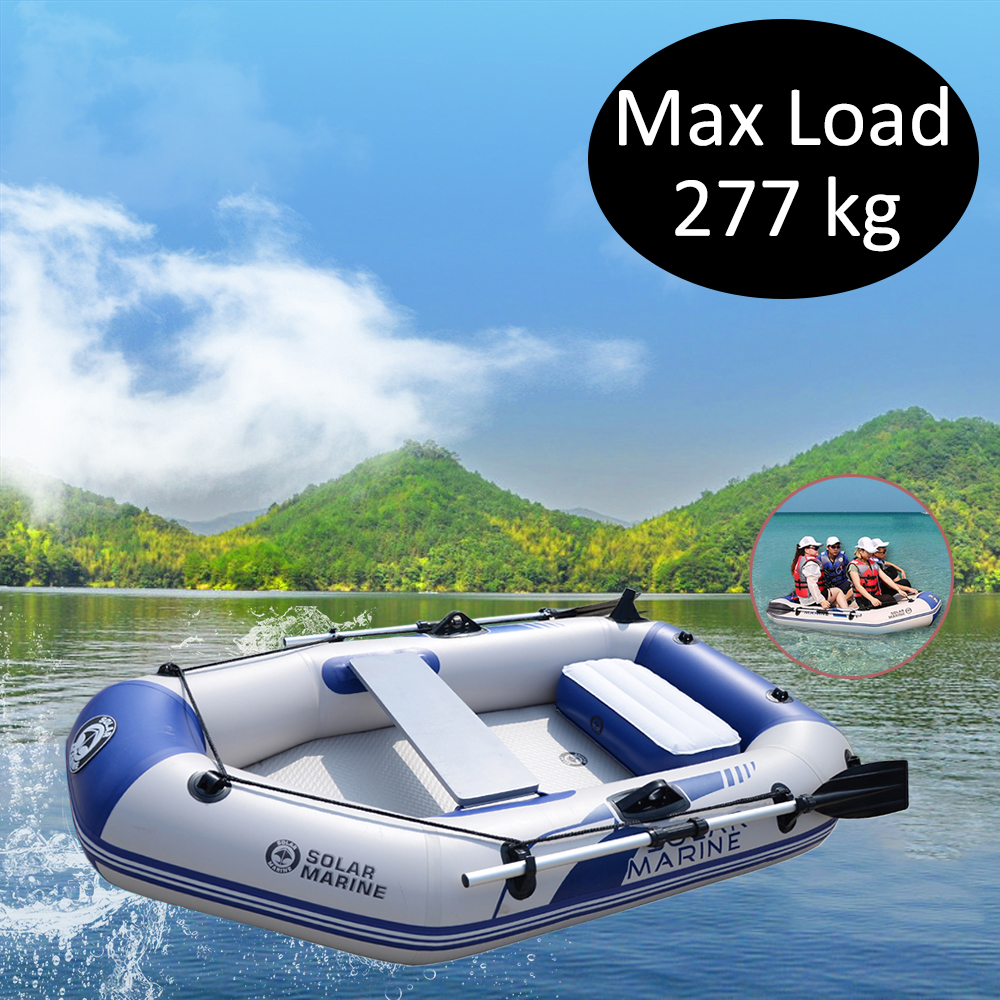 3 Person Rowing Boats Set 2m Fishing Boat With Aluminum Oars And High Output Air Pump